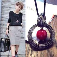 America and Europe pop exaggerated 2 pearl long sweater necklace fashion jewelry