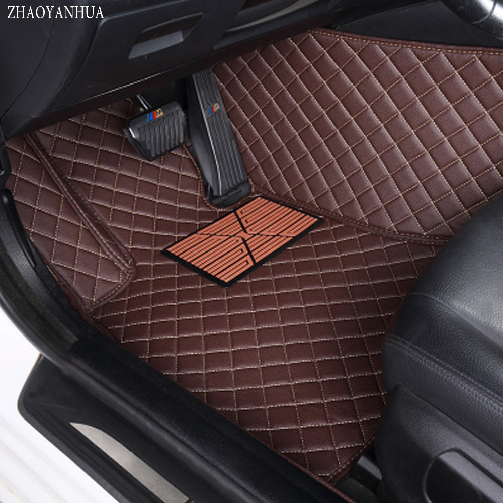 ZHAOYANHUA Car floor mats for Hyundai Tucson 2016 ix35 all weather protection heavy duty car-styling carpet floor liners custom make waterproof leather special car floor mats for audi q7 suv 3d heavy duty car styling carpet floor rugs liners 2006