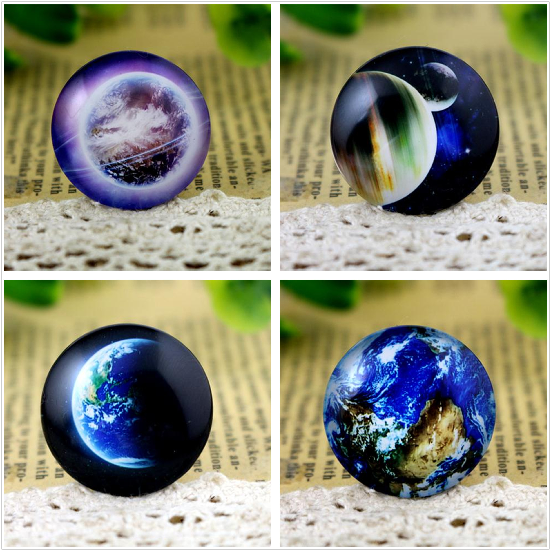 New Fashion  5pcs/Lot 25mm Hot Sale Handmade Photo Glass Cabochons (Nebula Earth Series )