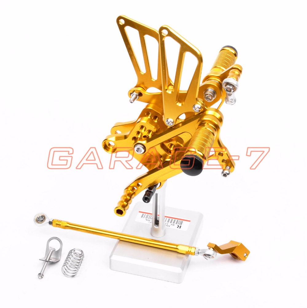 Rearsets Foot Rests Rear For HONDA CBR600F 2001-2007 2002 2003 2004 2005 2006 Motorcycle Foot Pegs Yellow New CNC Aluminum Alloy