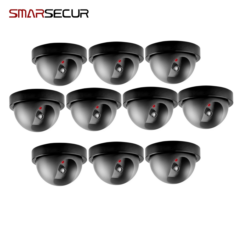 Free shopping Waterproof Dummy CCTV Camera With Flashing LED For Outdoor or Indoor Realistic Looking Fake Camera for Security white black dummy camera fake dome cctv camera indoor outdoor red led flashing light for home security for christmas