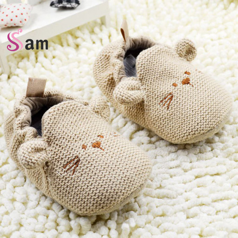 2016Fashion New Autumn Winter Baby Shoes Girls First Walkers Newborn Crib Shoes 0 18M Shoes