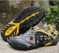 Дышащей Обуви Мужские Летние Кожаные Обувь Для Ходьбы 2017 Водонепроницаемый Открытый Пляжные Сандалии Вода Обувь для Унисекс Сандалии