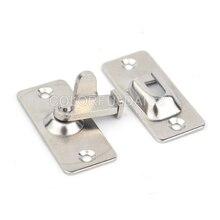 цена на 2PCS Mini 90 Degree Stainless Steel Lock For Sliding Barn Wood Door Hardware Latch JF1704