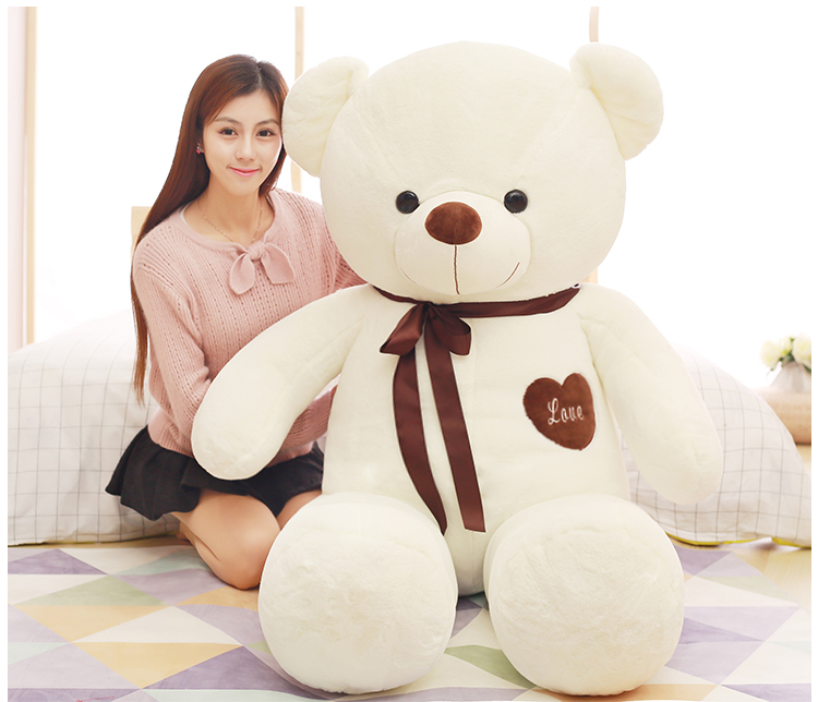 stuffed toy large 160cm white love teddy Bear plush toy,hugging pillow birthday gift,b0779 stuffed animal 120 cm cute love rabbit plush toy pink or purple floral love rabbit soft doll gift w2226