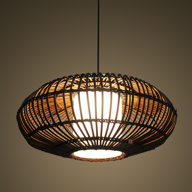 Chinese Style Rustic Lantern Bamboo Rattan Knitted Classical Pendant Light  Bedroom Brief In Pendant Lights From Lights U0026 Lighting On Aliexpress.com ...