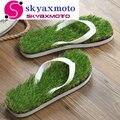 2016 New women Imitation Grass Flip Flops For women Summer Beach Flip Flops Flat Shoe Out Sandals Slipper Women Sandalias Mujer
