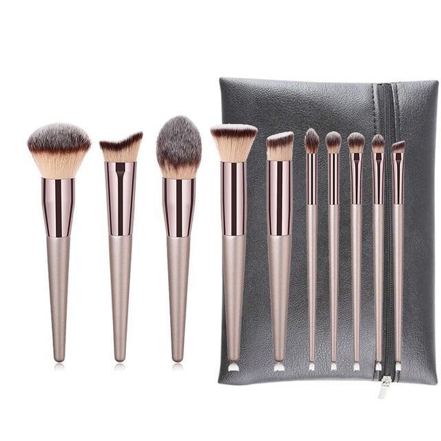 10pcs Makeup Brushes Set professional Foundation Powder Eyeshadow Blending Eyebrow kabuki cosmetic brush Tool