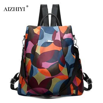 c7bf9785d52 Product Offer. Новый женский рюкзак Оксфорд Многофункциональный рюкзак  повседневный Противоугонный рюкзак для девочек-подростков школьные сумки ...