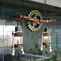 American County Creative Retro Style Wood Pendant Lamp Cafe Bar Loft Restaurant Teahouse Study Decoration Lamp Free Shipping
