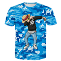 Males Camo Anime t shirts Dragon Ball/One Piece/Naruto tshirts Men Women Vegeta/Goku/Kakashi/Luffy/Deadpool 3D t shirt tees tops