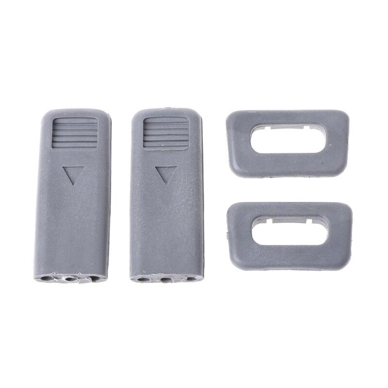 QILEJVS Car Lock Pin Cap Set w/ Base For Mitsubishi Pajero Montero V31 V32 V33 V43 99-00-m18