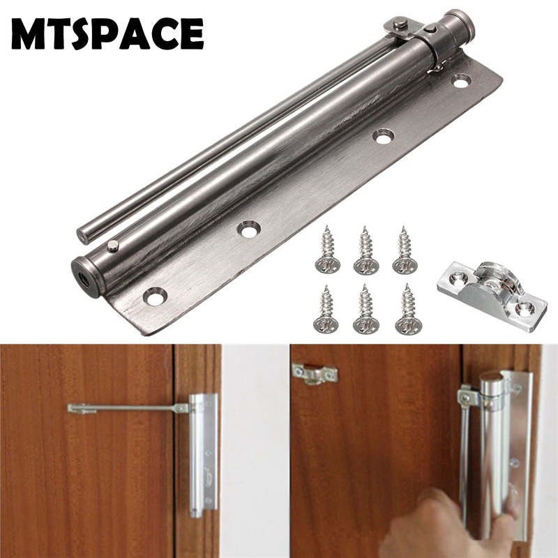 MTSPACE 1 Set Stainless Steel Adjustable Surface Mounted Auto Closing Door Closer Fire Rated Door Hardware Fully Adjustable 1pc automatic mounted spring door closer stainless steel adjustable surface door closer 160x96x20mm page 6