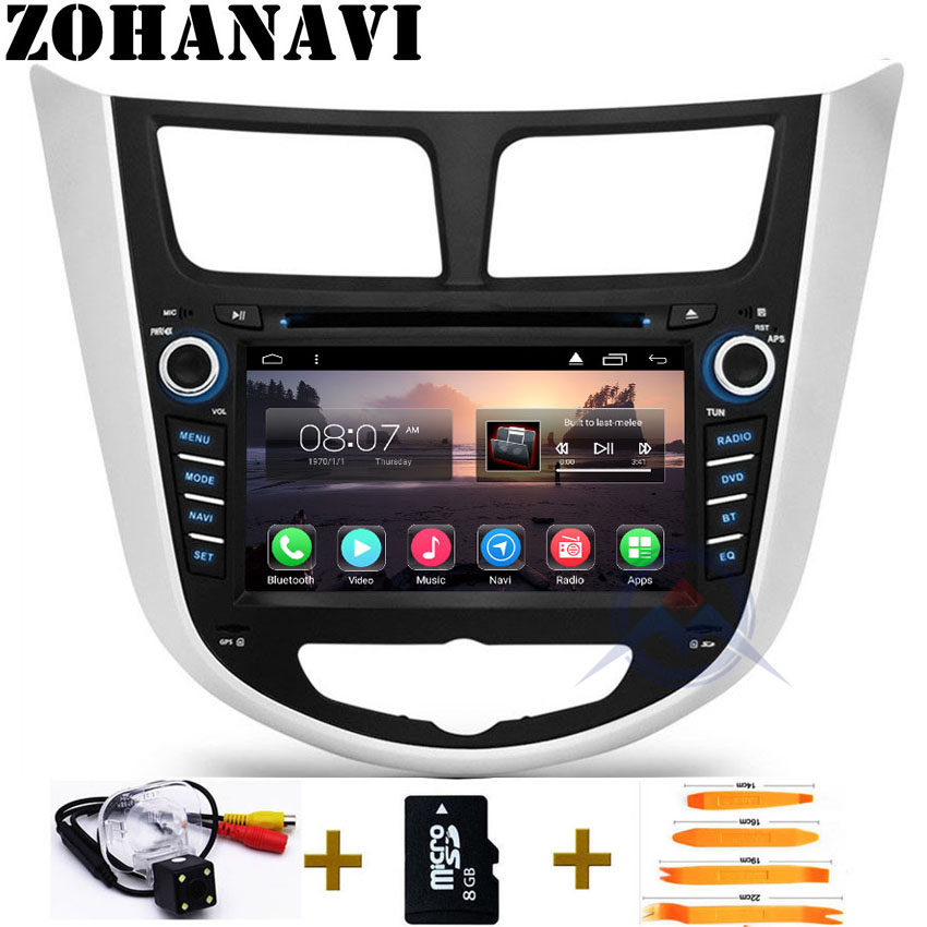 Android 9.0 Quad Core 2Gb RAM Car radio player For Hyundai Solaris Accent Verna car dvd gps navigation multimedia BT wifi map