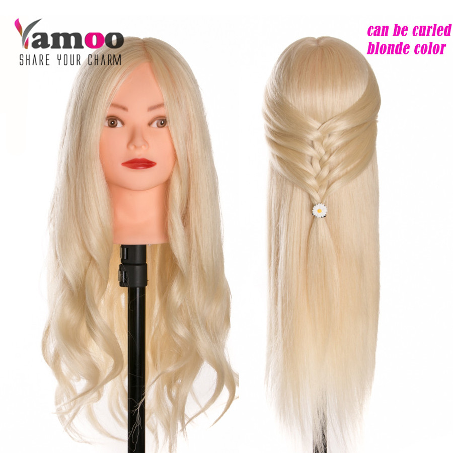 2017 Hot Blonde Dummy Mannequin Training Head Hair Styling Long Cosmetology Heads Models Made In Mannequins From Home