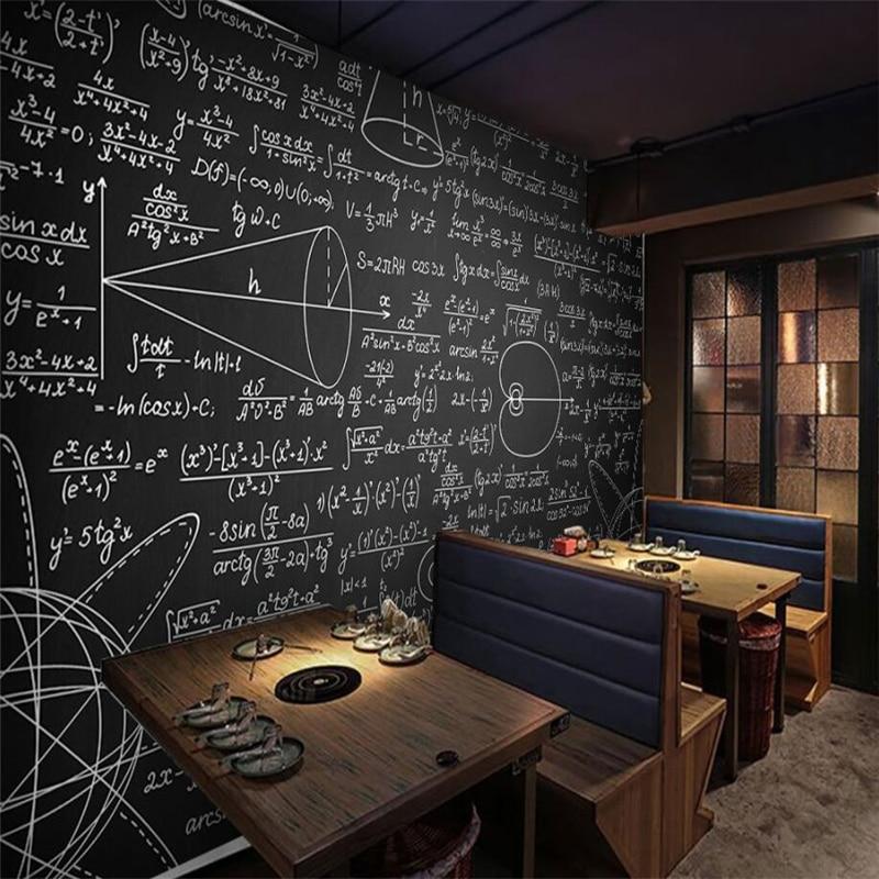 Tafel Tapete beibehang große eigene tapete mathematische formel tafel wandbild