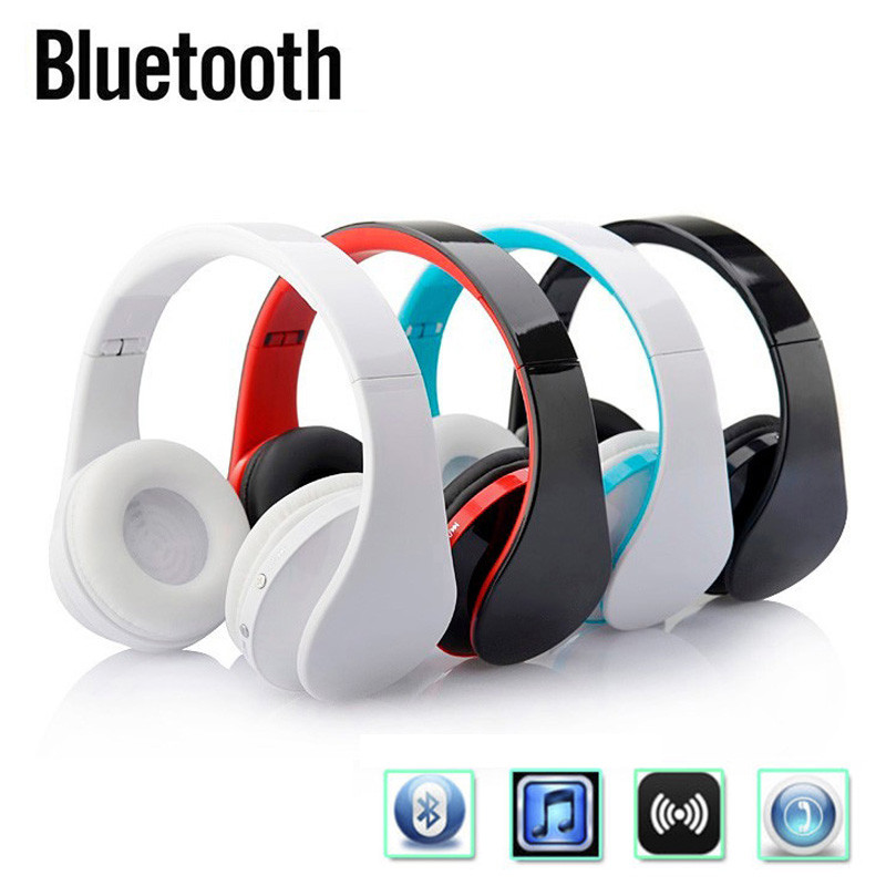 Earphone Folding Bass Earphone Wired+Wireless Stereo Bluetooth Headphone Over-Ear Noise Cancel Headset With Mic for Smart Phone