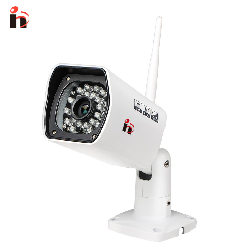 H Free Shipping HD 1080P Waterproof Bullet IP Camera WIFI Wireless Outdoor Surveillance Camera ONVIF Security IR Night Vision free shipping wholesale h 264 home security ir outdoor p2p cloud bullet ip camera 1 0mp hd 720p