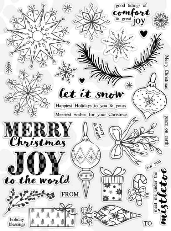 15x20cm Merry Christmas Clear Stamp Or stamp for DIY Scrapbooking/Card Making/Kids Fun Decoration Supplies A338