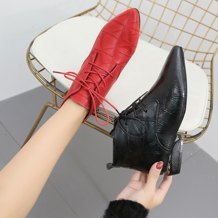 rouge Botines Décoration Femme Hiver Filles Dames Neige Bottes Noir Boot Chaussures 2018 Automne Femmes Cheville Mujer Noir Western qnTwUPn