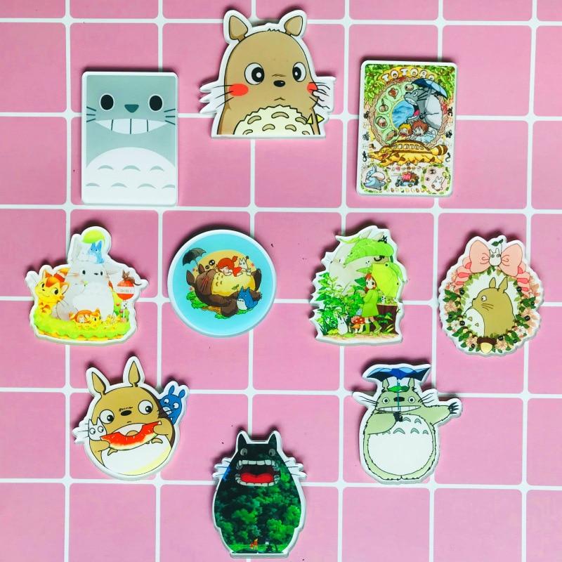 1 Pcs Nette Harajuku Mein Nachbar Totoro Symbol Auf Die Pin Brosche Anime Bacges Rucksack Abzeichen Für Kleidung Kinder Acryl Abzeichen