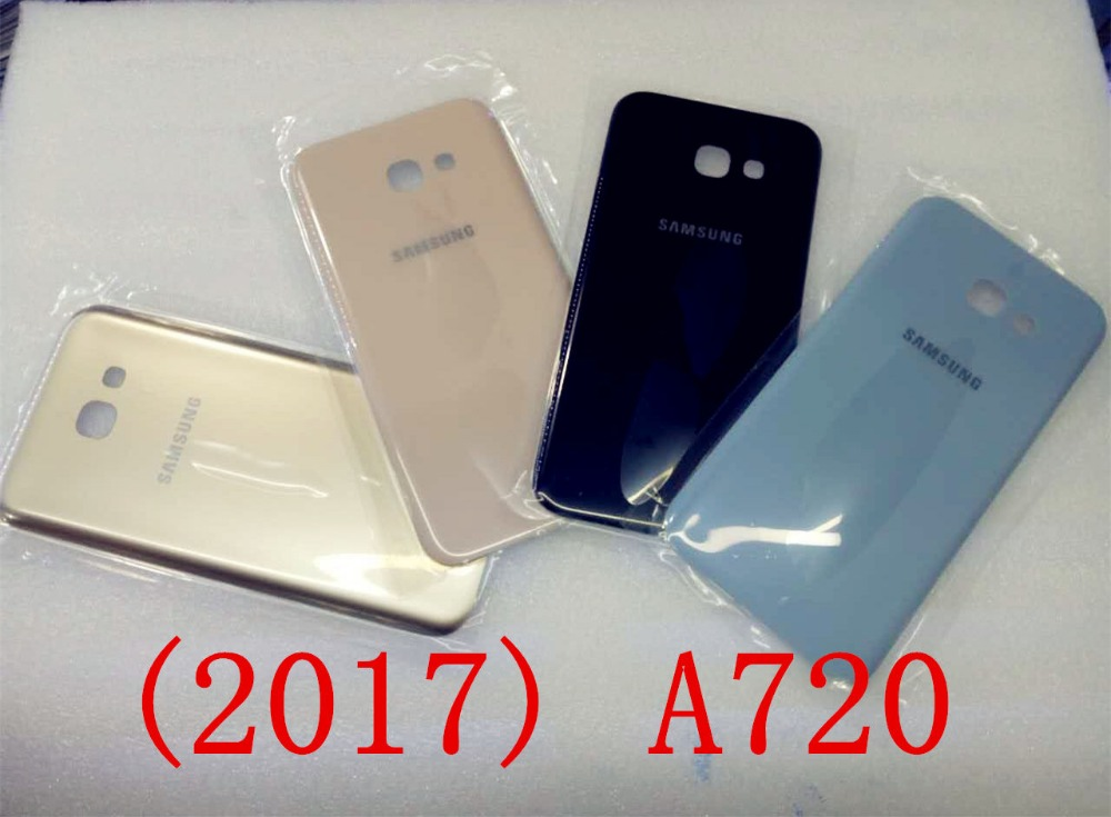For Samsung Galaxy A7 2017 A720 A720F New Back Rear Glass Battery Housing Door
