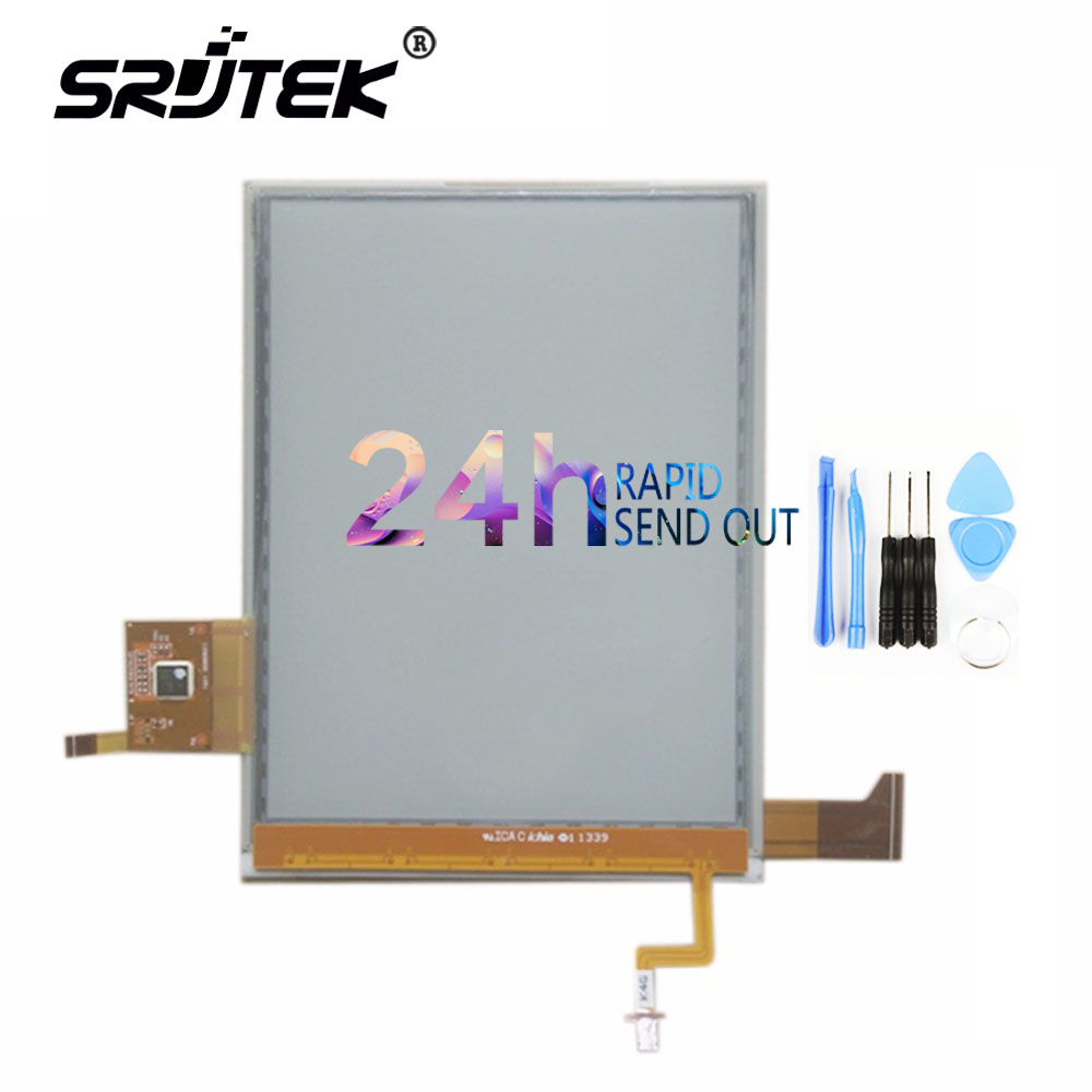 SRJTEK 6 For Pocketbook Touch Lux 623 Pocketbook Touch 2 Limited Edition ED060XH2 LCD Display + Touch Screen + Backlight Cable лопата туристическая с деревянным черенком