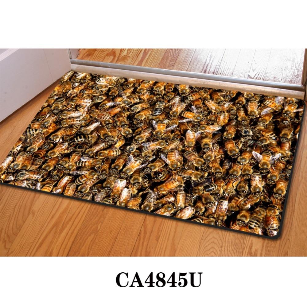 Funny bathroom rugs - Aliexpress Com Buy Honeycomb 3d Thin Indoor Mats Rugs For Home Funny Bathroom Carpet 40x60cm Tapis Cuisine Kitchen Doormat Floor Mats Thin Bath Mat From