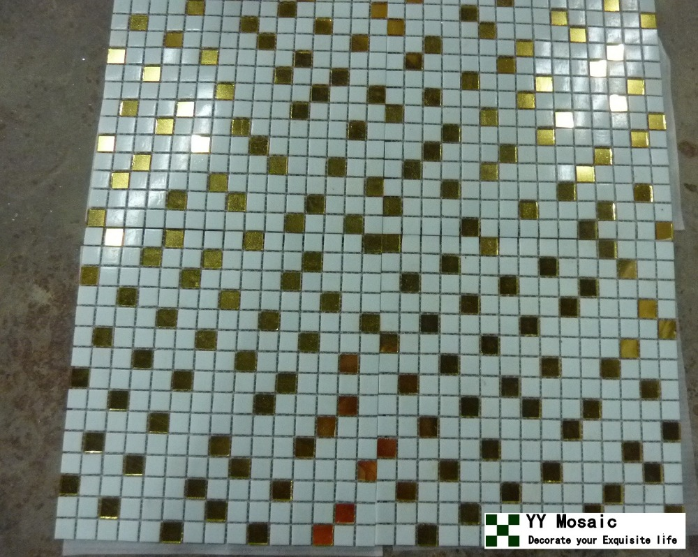 Mosaic liners art pattern mirrorred bathroom wall discount tiles - Fashion Modern Mirror Glass Gold And Sivler Mosaic For Wall Living Bathroom Tv Background Of Home