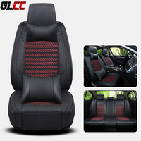 Car Seat Cover Wear Proof Luxury PU LeFront Rear Complete Set Universal 11 Seats Car Four