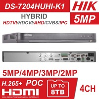Hikvision Hybrid 4ch/8ch DVR DS 7204HUHI K1 & DS 7208HUHI K1 5 IN 1 AHD CVI TVI CVBS IP 8MP Security DVR for Analog Camera