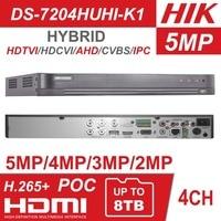 Hikvision Hybrid 4ch/8ch DVR DS 7204HUHI K1 и DS 7208HUHI K1 5 в 1 AHD CVI TVI CVBS IP 8MP безопасности DVR для аналоговых Камера
