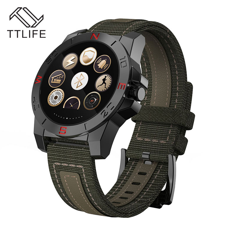 2017 TTLIFE IP67 waterproof Smart watch 1 22 inch Heart Rate monitor Sleep monitor outdoor sports