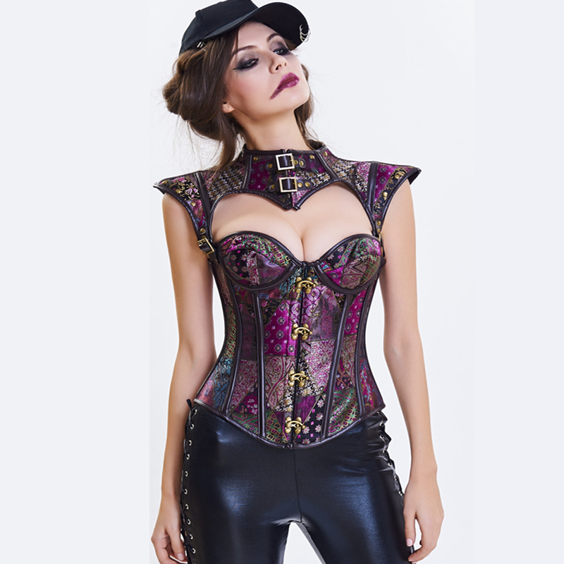 Gothic Steampunk   Corset   shaper body shapers women   bustier     corset   Gothic clothing waist trainer slimming shaper   bustiers     corsets