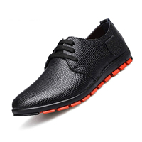 Fashion Boutique ShuTe Men S Casual Dress Shoes Animal Texture Lace Up Oxford Leather Shoes