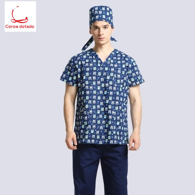 Men 39 s and women 39 s printed hand washing clothes made of medical pure cotton fabric can be sterilized at high temperature in Scrub Sets from Novelty amp Special Use