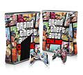 GTA-V Sticker Cover For Microsoft Xbox 360 Slim Decal Skin Console & 2PCS Controle Skin Sticker