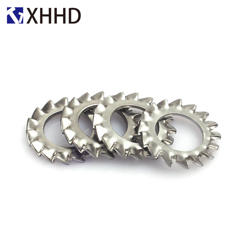 External Toothed Gasket <font><b>Washer</b></font> Serrated Lock <font><b>Washer</b></font> 304 Stainless Steel M2.5 M3 M4 M5 M6 <font><b>M8</b></font> M10 M12 M14 M16 M18 M20 M24 M30 image