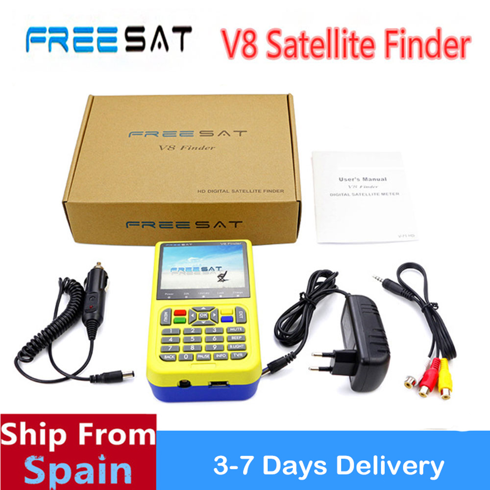 Freesat V8 Finder 3.5 inch LCD V8 Finder HD DVB-S2 High Definition Satellite Finder MPEG-4 satellite Finder V8 satlink 6906 стоимость