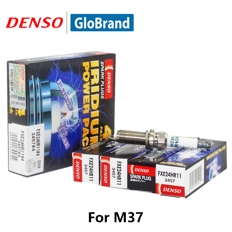 4pcs/lot DENSO Car Spark Plug For NISSAN GTR G25 NISSAN Teana M37 Double Iridium FXE24HR11 iridium spark plugs 4 pack