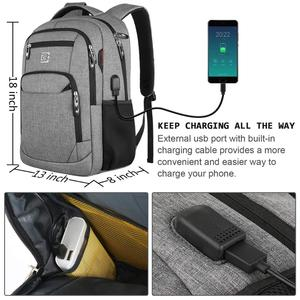 Image 2 - Laptop Backpack 15.6 Unisex Fits Inch Business Travel Anti Theft Slim Durable Backpack with USB Charging Port Water School Bag