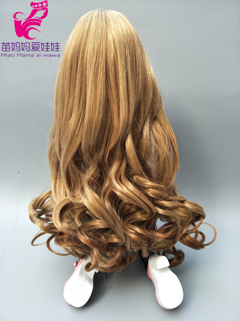 Natural Color curly Hair Wig for 1/3 1/4 1/6 BJD doll for Russian DIY doll wigs-010