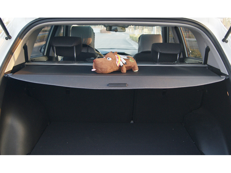 Rear Trunk Cargo Shield Cover Black 7 Seat For Hyundai Grand Santa Fe 2013 2014 2015 car rear trunk security shield cargo cover for honda fit jazz 2014 2015 2016 2017 high qualit black beige auto accessories