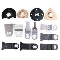 CNBTR 13 Pieces Universal E-Cut Multi Oscillation Tool Saw Blade Scraper Kit