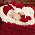 Bebé de la Navidad Conjunto Niño Recién Nacido Fotografía Atrezzo Hat + Zapatos de Punto Lindo Traje Hecho A Mano de Ganchillo Beanie Cap H113