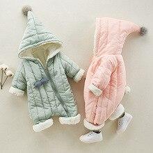 Флисовые куртки для малышей; детский зимний комбинезон из хлопка на диагональной молнии; Дизайнерская одежда для новорожденных девочек; пальто для мальчиков; Мантия с капюшоном