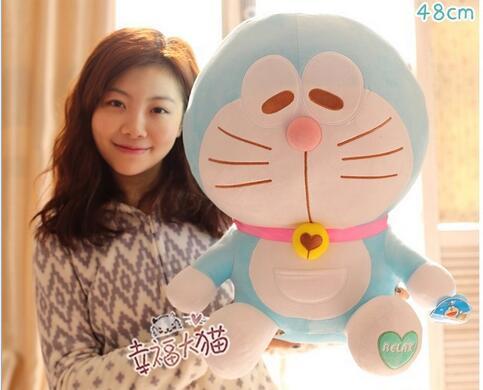 Sitting height 48cm Anime Cartoon Cute Doraemon plush toys Japanese anime Doraemon Cat Plush Toys For Gift sitting height 65cm anime cartoon cute doraemon plush toys japanese anime doraemon cat plush toys children s gift