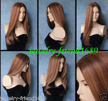 Wholesale heat resistant LY free shipping New wig Heat Resistant Cosplay Pretty Stylish straight mixed wig