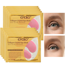 8Pair Crystal Collagen Gel Eye Mask Patches Sleep For Face Care Remover Dark Circles Wrinkle Anti Bags Treatment EFERO