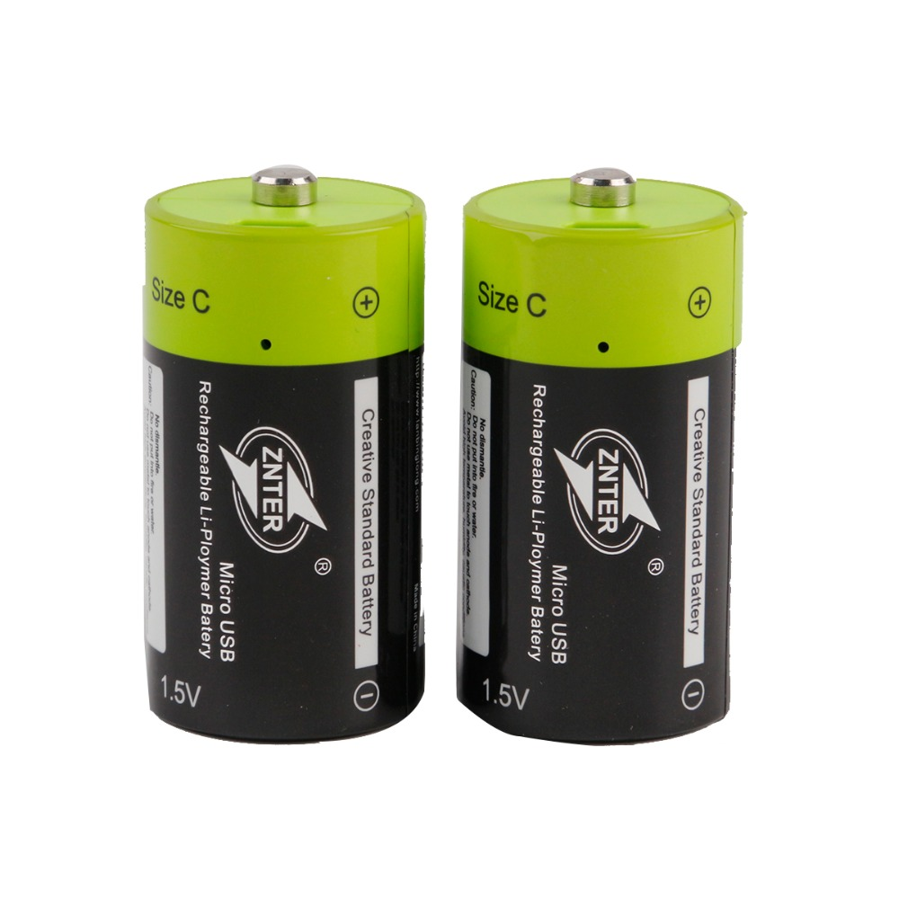 1.5V 3000mAh USB Rechargeable Battery Size C Charged Lipo Lithium Polymer Batteria Universal Micro USB Charging Batteries image